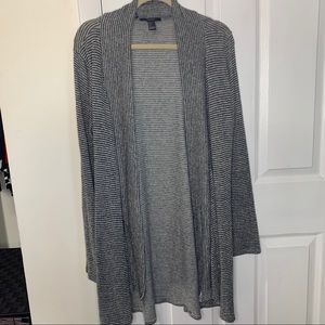 Forever 21 Striped Open Front Lightweight Cardigan